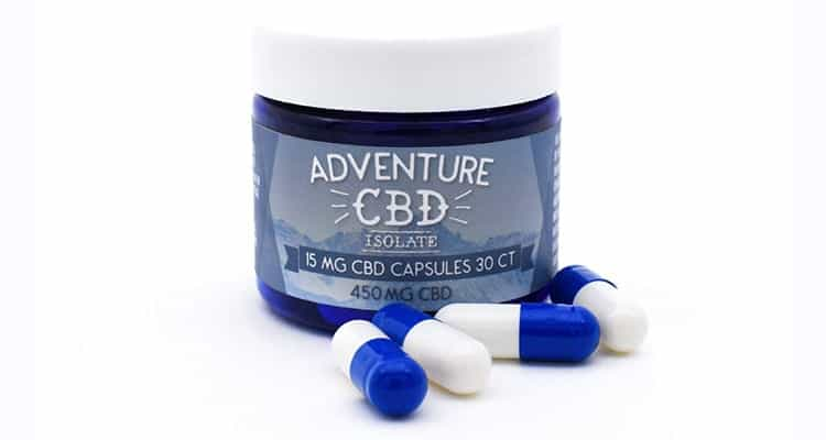 450mg-Hemp CBD Capsules from AdventureCBD.com