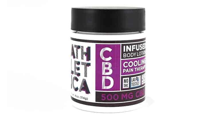 athletica cooling CBD body lotion for athletes.